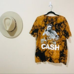 Vintage Style Dyed Johnny Cash Tee